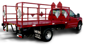 Delivery truck bodies from H&H for compresses and propane cylinders.