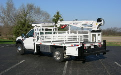 Crane truck body.